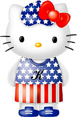 hello kitty bandiera usa
