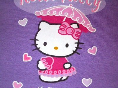 hello kitty geisha rosa e ombrello