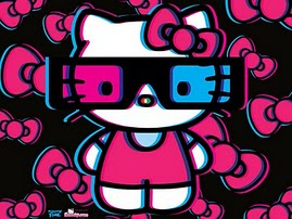 hello kitty 3D con occhialini