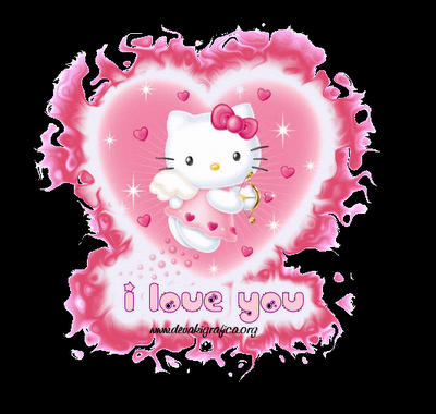 hello kitty angelo i love you