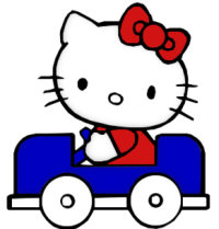 Hello Kitty macchina automobile