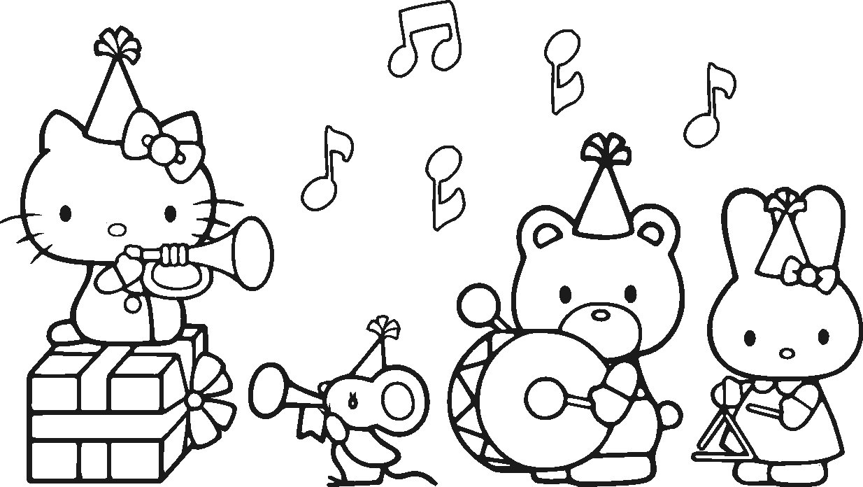 Disegni da colorare hello kitty for Hello kitty images coloring pages
